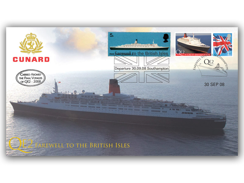 Queen Elizabeth 2 Farewell to the British Isles Carried Cover
