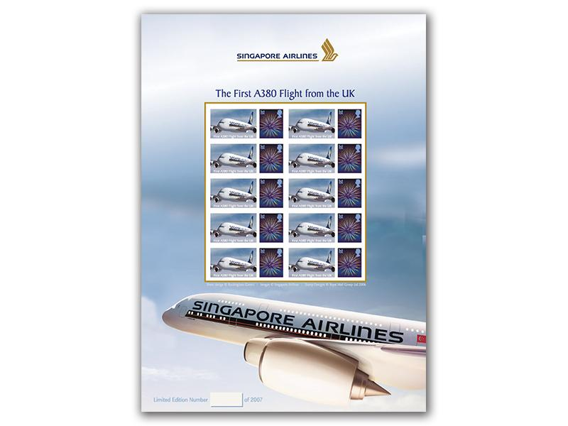 Airbus 380 Commemorative Mint Sheet