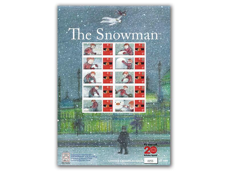 Snowman Stamp Sheet for Childline