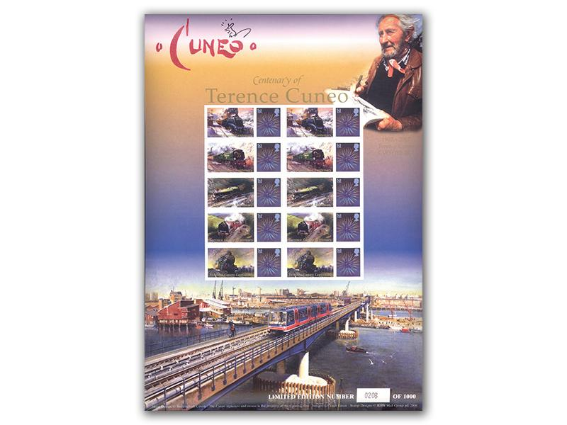 Terence Cuneo Centenary Railway Sheet