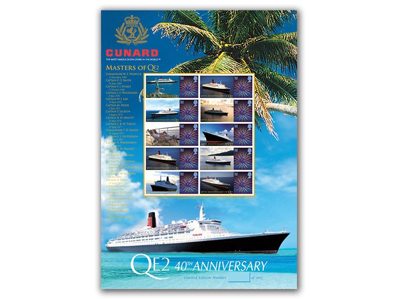 QE2 Limited Edition Stamp Sheet