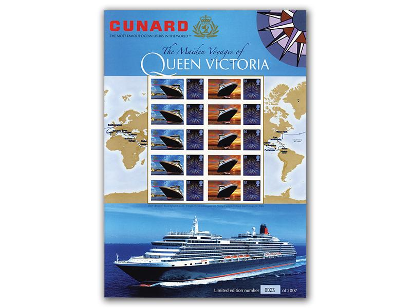 RMS Queen Victoria Stamp Sheet