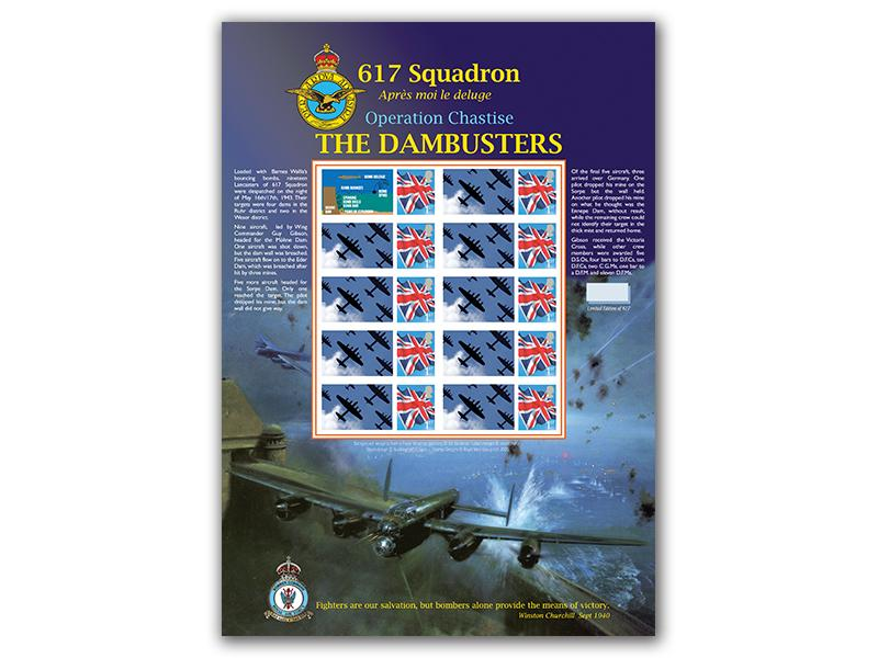DamBusters Stamp Sheet Platinum Edition