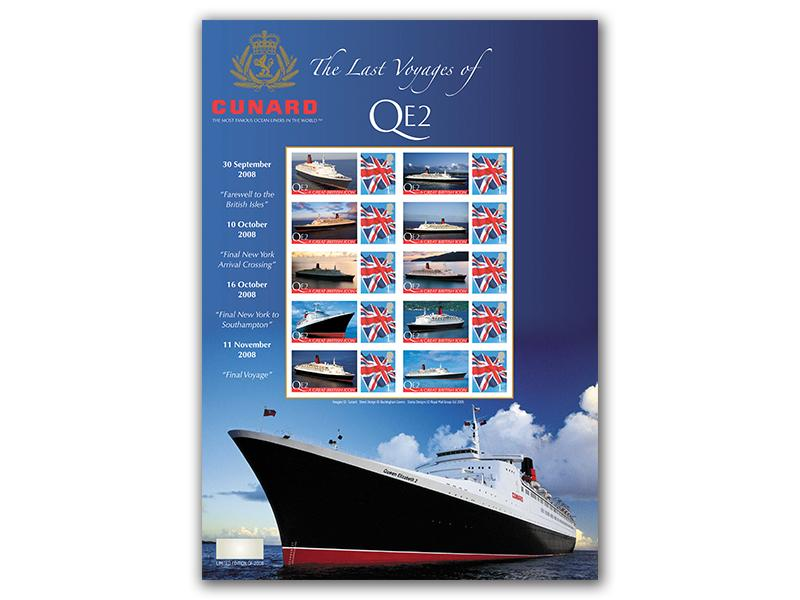 QE2 Stamp Sheet
