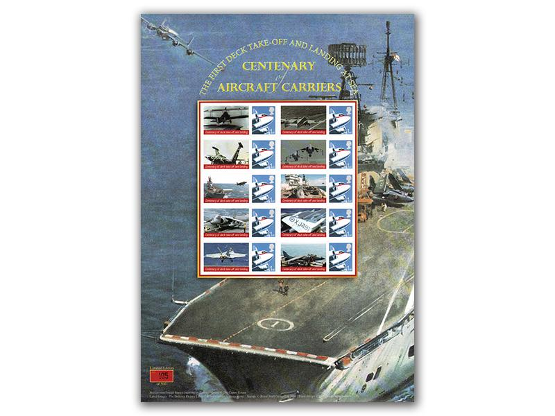 Centenary of Naval Aviation Stamp Presentation Sheet