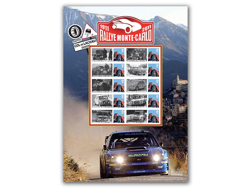 Celebrating the Centenary of the Rallye Monte-Carlo Stamp Sheet