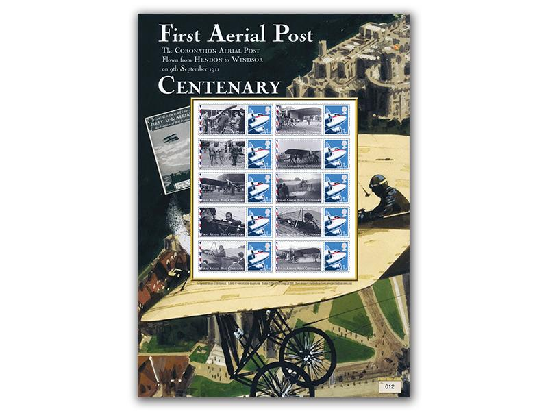 Centenary of the First Aerial Post Mint Stamp Sheet