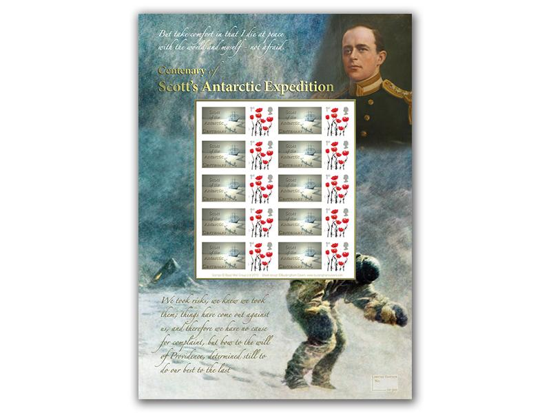 Centenary of Scotts Polar Expedition Mint Stamp Sheet