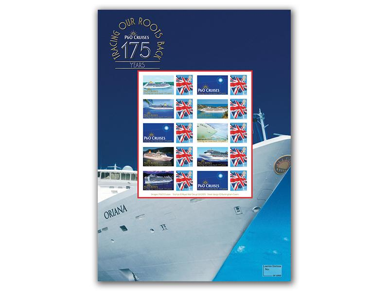 P&O Cruises 175th Anniversary Mint Stamp Sheet