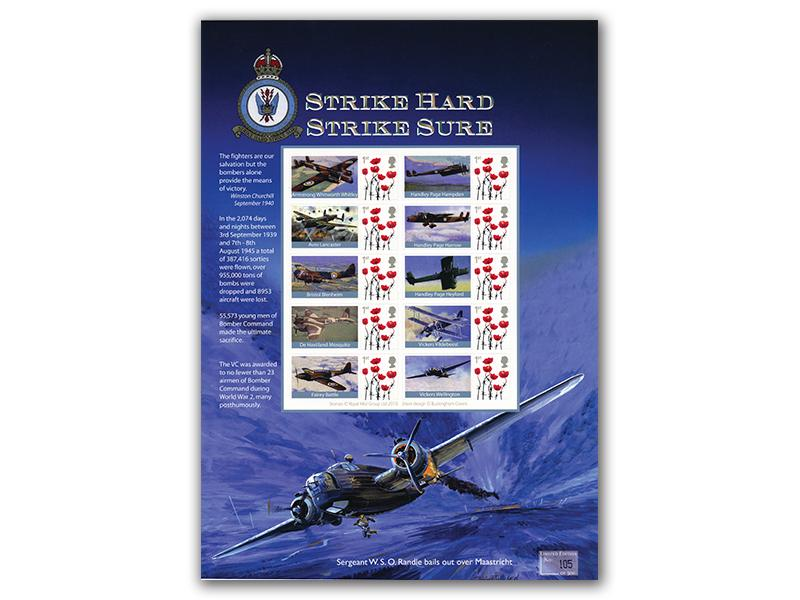 Bomber Command Mint Stamp Sheet