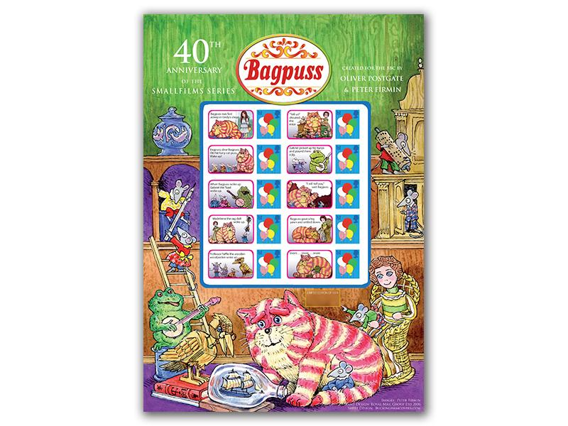 Bagpuss 40th Anniversary Stamp Presentation Sheet