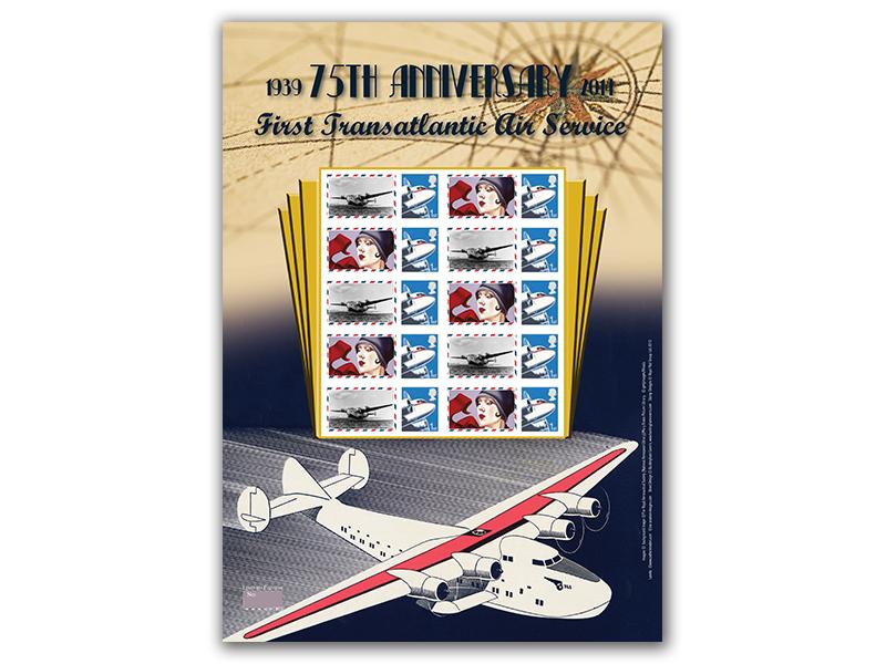 75th Anniversary of the First Transatlantic Air Service Stamp Sheet