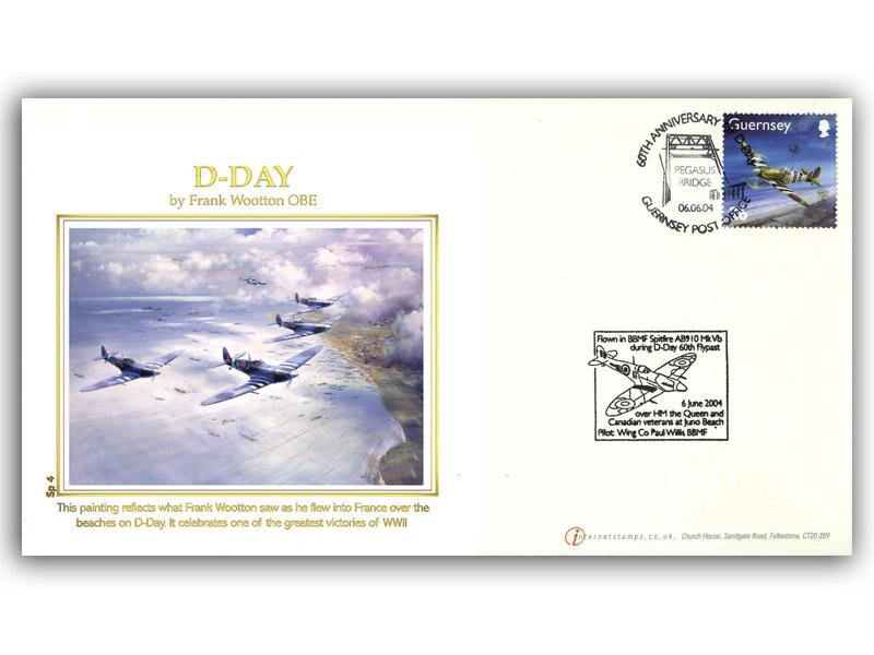 D-Day cover flown in a Spitfire