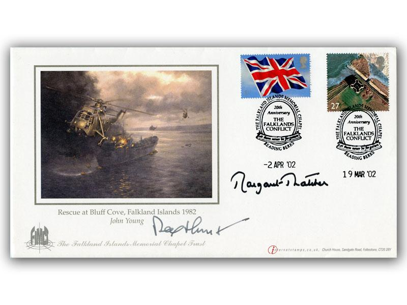Falklands double dated 19/3 & 2/4