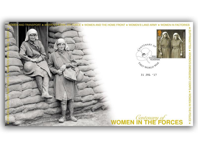 Centenary of the Womens Auxillary Army Corps Single Stamp Cover