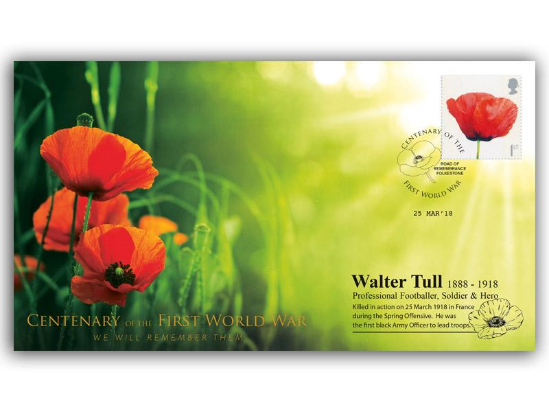A Tribute to Walter Tull - 1888 to 1918 First Day Covers