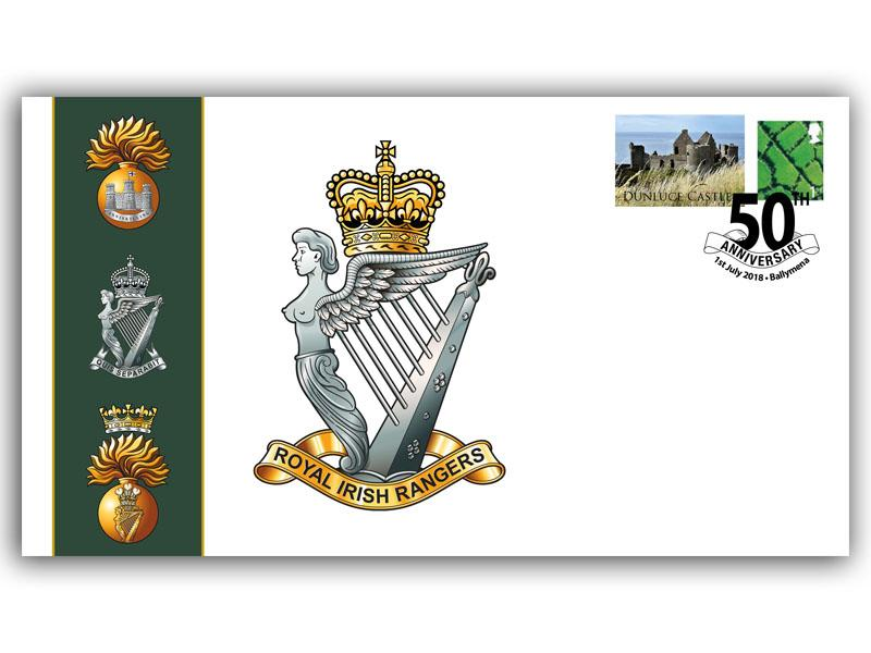 Celebrating 50 Years of the Royal Irish Rangers First Day Covers