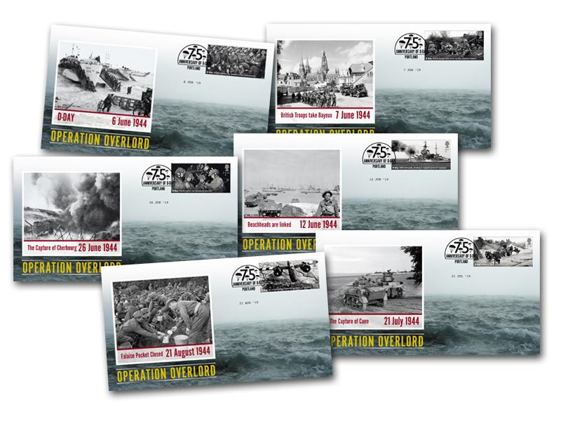 Operation Overlord Set of 6 Covers First Day Covers