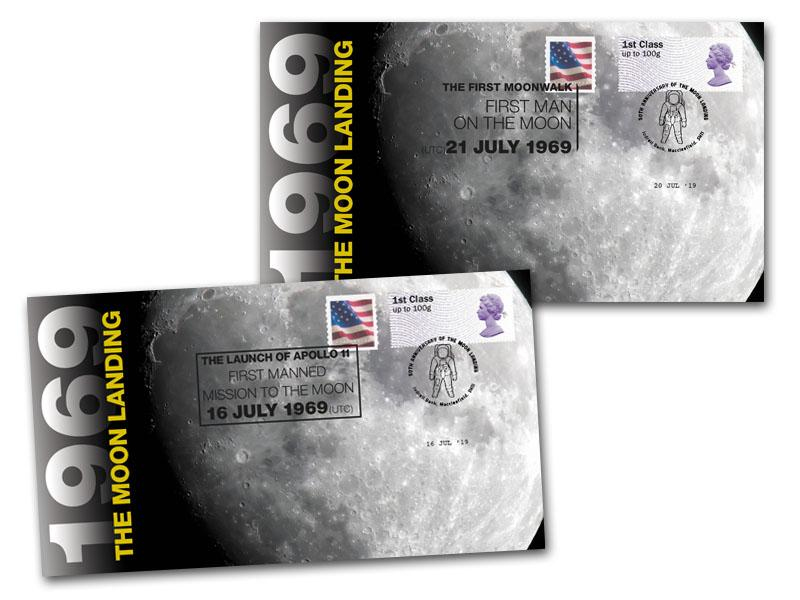 Apollo 11 - 50th Anniversary of the Moon Landing Pair of Covers