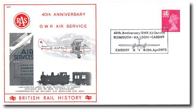 1973 40th Anniversary of the GWR Air Service - Cardiff