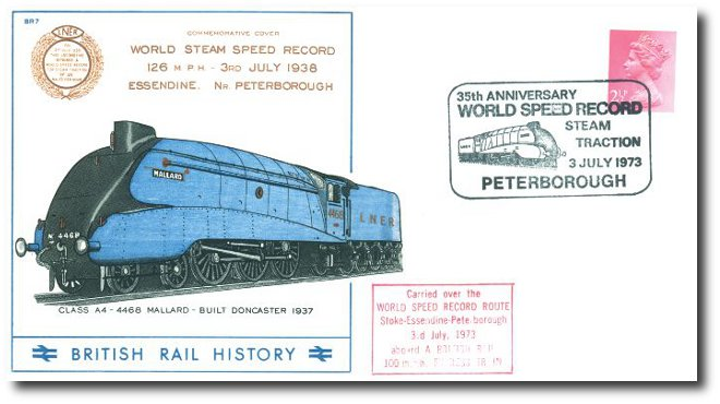1973 35th Anniversary of the World Steam Record for Steam Traction - Peterborough