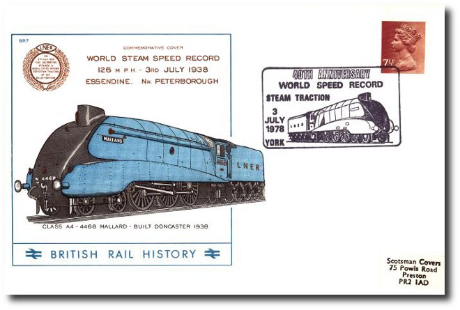 1978 40th Anniversary of the World Speed Record for steam traction - York