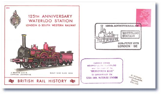 1973 125th Anniversary of Waterloo Station