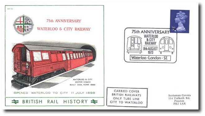 1973 75th Anniversary of the Waterloo and City Railway
