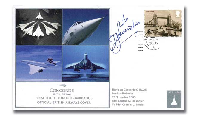 Concorde Final Flight signed Bannister