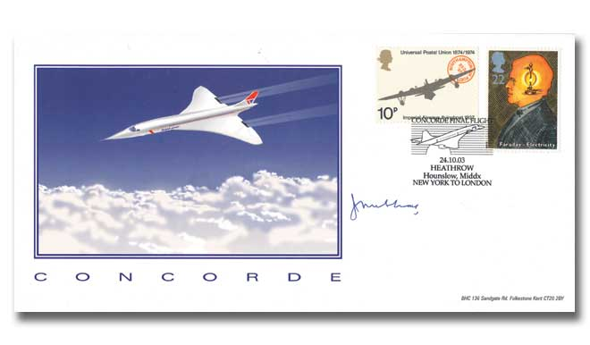 John Cochrane signed Concorde Final Flight