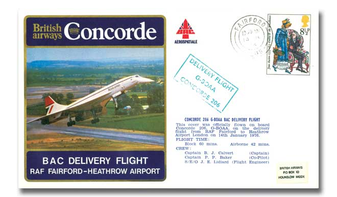 British Airways Concorde delivery flight