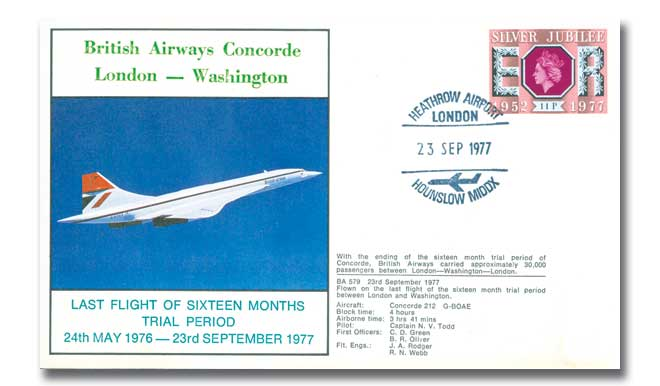 British Airways Concorde flown cover