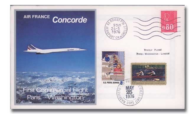 Air France Concorde double flown cover