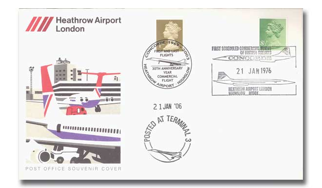 Heathrow Airport Post Office souvenir cover