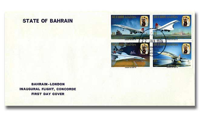 Commemorating first flight Bahrain to London