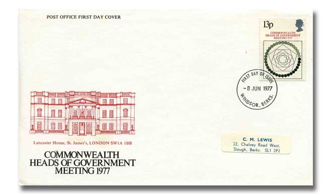 Heads of Government Post Office cover