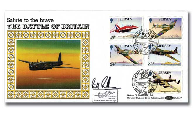 Battle of Britain Jersey flown cover