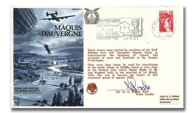 Maquis D'Auvergne RAF Escaping Society cover