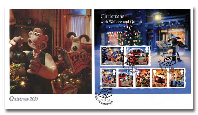 Wallace and Gromit 2010 M/S Christmas cover