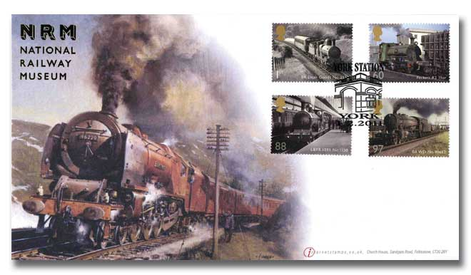 National Railway Museum stamps from M/S cover