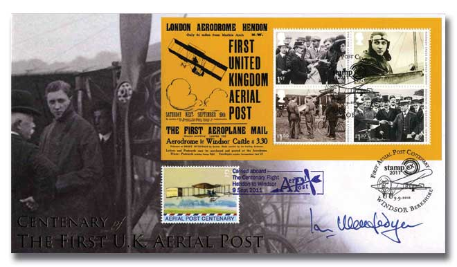 Aerial Post Centenary signed Air Marshal Mcfa