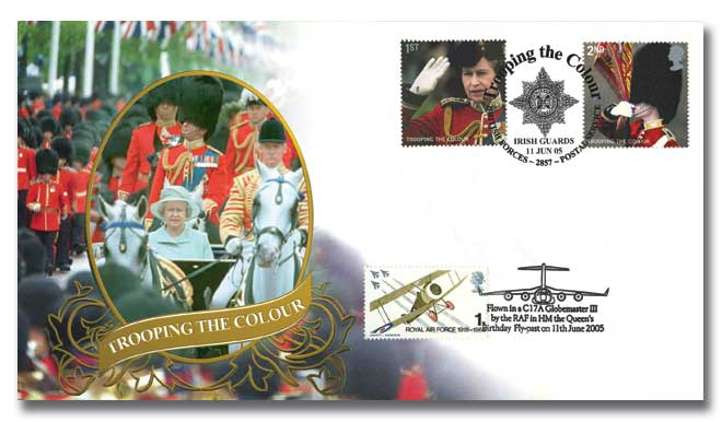 Trooping the Colour flown cover