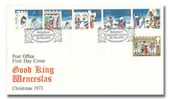 1973 Christmas Cover with a Bethlehem Special Postmark