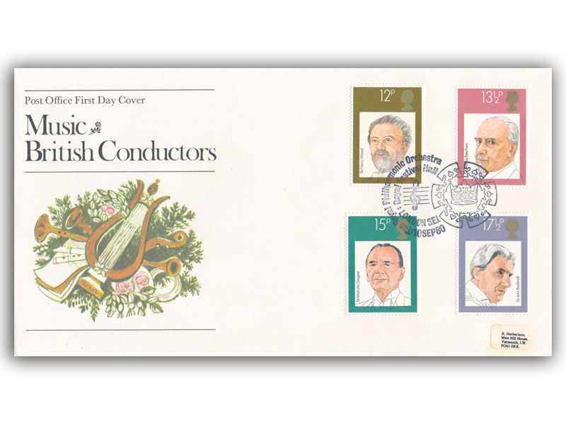 10th September 1980 British Conductors First Day Cover