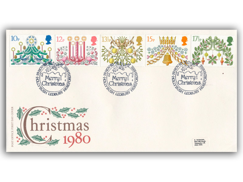 19th November 1980 Christmas First Day Cover