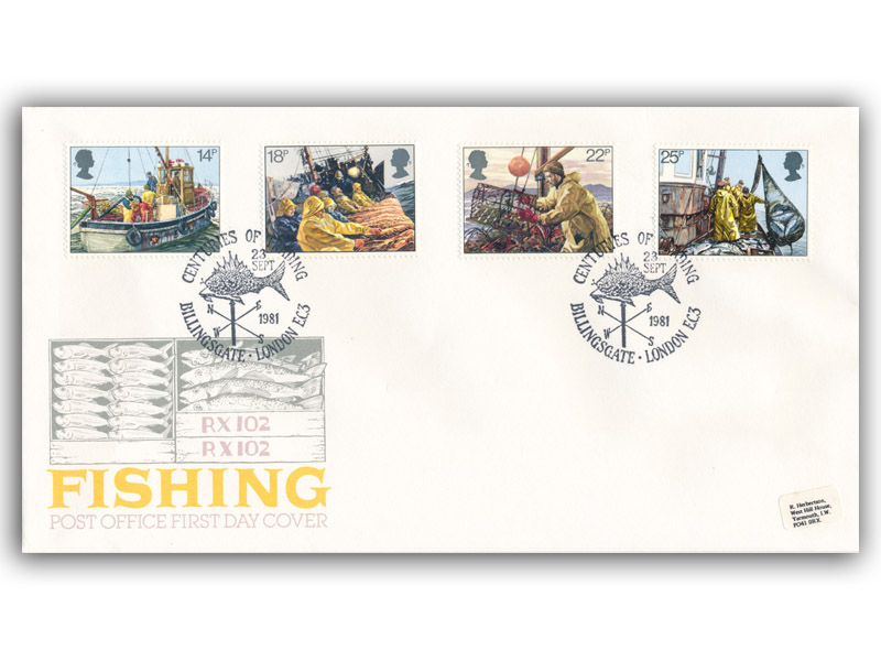 23rd September 1981 Fishing First Day Cover