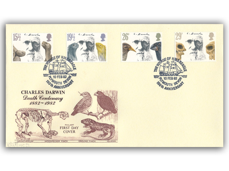 10th February 1982 Charles Darwin First Day Cover