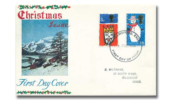 1966 Christmas Ordinary Stamps Cover with any postmark