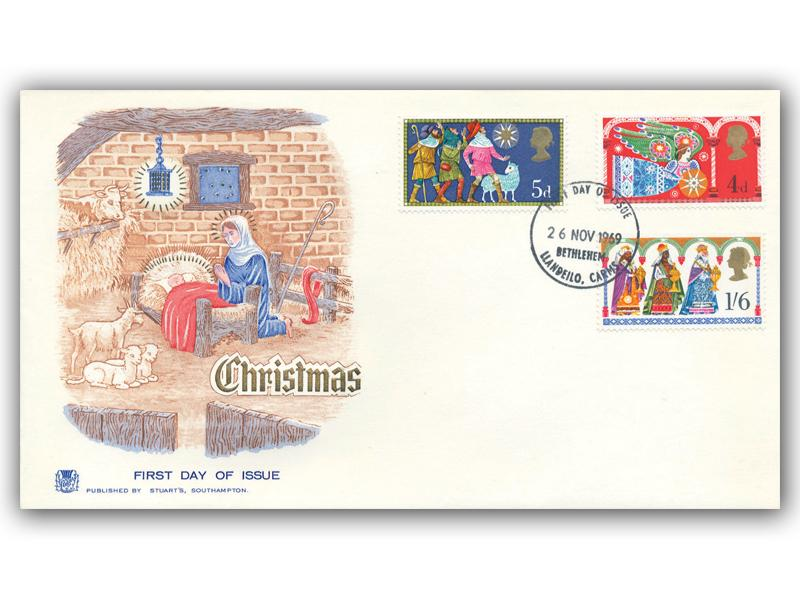 1969 Christmas Cover with a Bethlehem Postmark