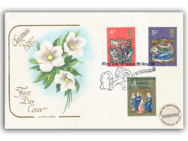 1970 Christmas Cotswold Cover with a Bethlehem Special Postmark